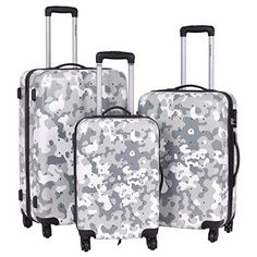 Luggage Sets Collections | Travel Luggage Set 3 Pcs ABSPC Trolley Suitcase With Code Lock -- Learn more by visiting the image link. Note:It is Affiliate Link to Amazon. #QualityStylishLuggageSets