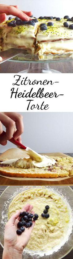 Das beste aller Rezepte für eine cremig-fruchtige Zitronen-Heidelbeer-Torte!