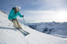Skifahren auf über 2000 Meter hoch über Oberstdorf.