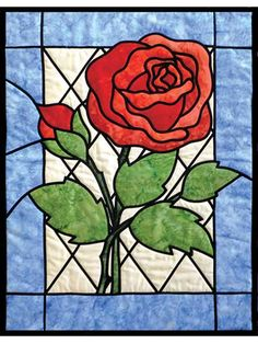 Stained Glass Rose Quilt