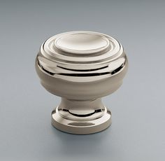 "Shown in polished nickel.	  GILMORE KNOB    Show product details...  DIMENSIONS  1"" or 1¼"""