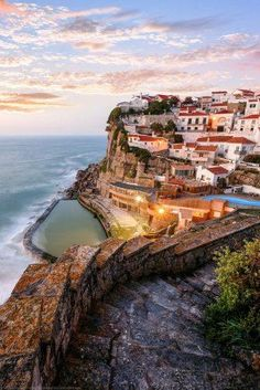 15 Fairytale Travel Destinations You HAVE To See Azenhas do Mar, Sintra, Portugal Places Around The World, Oh The Places You'll Go, Travel Around The World, Places To Travel, Travel Destinations, Places To Visit, Spain And Portugal, Portugal Travel, Sintra Portugal