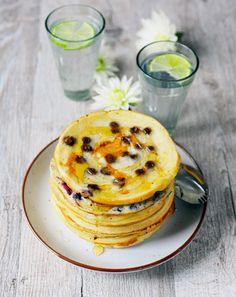 Pancake au chocolat, avoine ou myrtilles