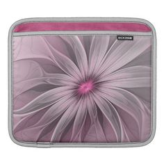 Flower waiting for a Bee Abstract Fractal Art iPad Sleeve