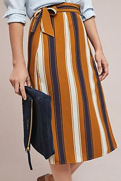 Melody Striped Wrap Skirt