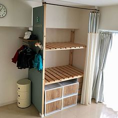 Interior examples such as / rental DIY / buttermilk paint / storage DIY / futon storage …- – Furnishings Paint Storage, Diy Storage, Diy Organization, Carpentry Projects, Home Projects, Japanese Interior, Diy Interior, Room, Furniture