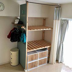 Bedroom/無印良品/収納/DIY/ディアウォール/バターミルクペイント...などのインテリア実例 - 2017-10-19 04:01:44