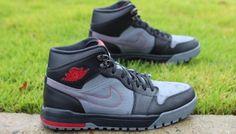 "Air Jordan 1 Low ""Black, Cool Grey & Gym Red"" - EU Kicks: Sneaker Magazine"