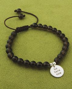 Be Here Now bracelet!  Get it at shrsl.com/ #amindfulgift #mindfulgifts #mindfulness #thichnhathanh #buddhistjewelry #mindfuljewelry #malabeads #spiritualgifts #spiritualjewelry #spirituality #meditate #meditation #beherenow #awareness #presence #inspiring #inspirationalgifts