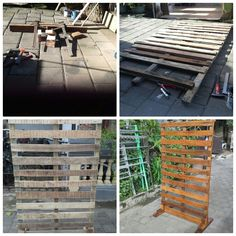 Pallet wall for photo display and for paneling. A perfect decoration for your wedding day.  For your information about our product and pricelist, contact us via;  FB; Bali Rustic Rental Instagram : bali rustic rental Email : goesbayuputra@yahoo.com Wa : 089655355052 Ph : 081238076101