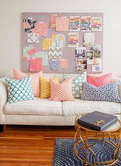Cómo combinar cojines en casa | Decorar tu casa es facilisimo.com