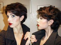 The pixie haircut is nevertheless on trend and is the excellent way to stand out in the crowd. Here are Short Wavy Pixie Hairstyles for try! Short Wavy Pixie, Short Wavy Haircuts, Long Bob Hairstyles, Short Curly Hair, Trendy Hairstyles, Short Hair Cuts, Curly Hair Styles, Haircut Short, Pixie Cuts