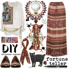 homemade gypsy fortune teller costume   fashion look from October 2013 featuring MES DEMOISELLES blouses ...