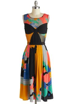 Tracy Reese Drop of Watercolor Dress | Mod Retro Vintage Dresses | ModCloth.com