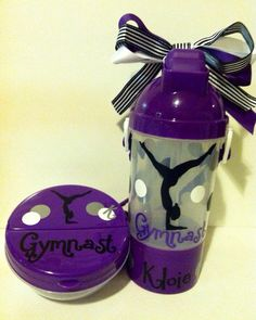 Gymnast Personalized Water Bottle Gymnastics Water Bottle Gymnast container party favor Gift Idea  on Etsy, $9.75
