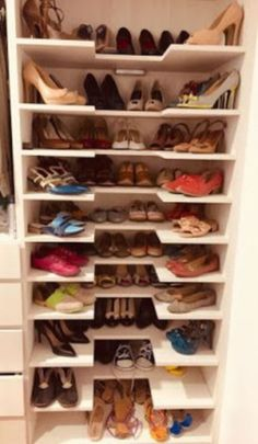41 The Best Shoes Storage Design Ideas 41 The Best Shoes Storage Design Ideas – Related posts: 32 Brilliant Shoes Rack Design Ideas – Original storage ideas for your shoes 15 Shoes Storage Ideas You'll Love Delicate Women Shoes With Jeans Ideas Shoe Storage Design, Shoe Storage Cabinet, Rack Design, Closet Storage, Closet Shoe Shelves, Shoe Rack In Closet, Storage For Shoes, Shoe Storage Ideas Bedroom, Storage Shelves
