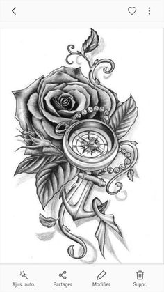Anchor tattoos are not so common in life, so they have some new ideas. In addition, they are also beautiful and suitable for secondary creation. Come and pick out anchor tattoos that belong to your. Feather Tattoos, Forearm Tattoos, Rose Tattoos, Body Art Tattoos, New Tattoos, Tattoos For Guys, Sleeve Tattoos, Tattoos For Women, Tattoo Women