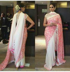 Sonam Kapoor double pallu saree by Abu Jani & Sandeep Khosla