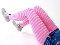 """MEKO Leggings Streifen Pink Grau Damen """"Eggi"""""""
