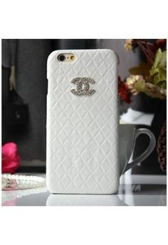 Coque Chanel iPhone 6 Plus,Housse Bling Strass iPhone6 5.5-blanc 3