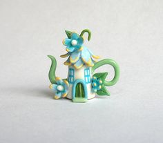 Miniature Fairy Blossom House Teapot by C. Rohal / ArtisticSpirit, $25.00