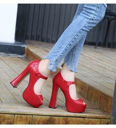 300d1a0f4 US $23.5 49% OFF MAIERNISI Pumps Female Shoes Fish Mouth Platform Women Pump  Solid High Heels 14cm Shoes Pumps Sexy Shallow Single Ladies Shoes -in  Women's ...