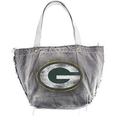 Littlearth Green Bay Packers Black Vintage Tote