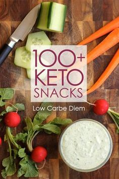 No-prep keto snacks in savory, salty, crunchy, smooth or sweet. 100 very low carb ideas.