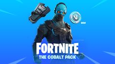 Nuevo Starter pack de Fortnite día 30 de Enero de 2019, skin Cobalto, mochila y 600 V-Bucks Sweet Games, Squad, Battle, Packing, Memes, Movie Posters, Fictional Characters, Cobalt, January