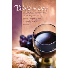 Bulletin-Communion-Walk in Love (Pkg-100)