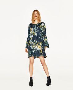 FLORAL PRINT DRESS-DRESSES-WOMAN   ZARA United States