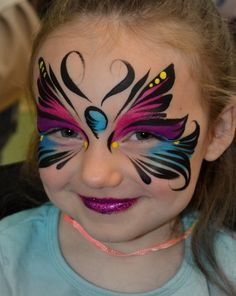 mariposas Girl Face Painting, Face Painting Tips, Face Painting Tutorials, Face Painting Designs, Painting For Kids, Paint Designs, Mermaid Face Paint, Butterfly Face Paint, Face Paint Makeup