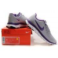 promo code 05373 31f89 Original Nike FREE 5.0 V4 Dam Löparskor Wolf Grå Pure Lila billig. Herr Nike  Air Max ...