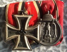 EK2 & Ostfront Grand Cross, Military Insignia, World War Two, Badges, Wwii, Awards, How To Memorize Things, Patches, Germany
