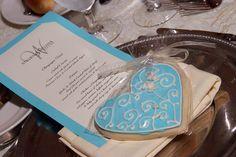 Tiffany Heart Cookie Favors Heart Wedding Favors by lorisplace