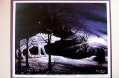 Night of the white wolf native american print. $75.00, via Etsy.