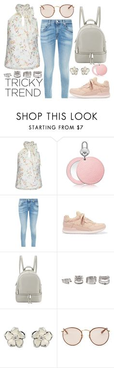 """""""Romantic High-Neck Blouses"""" by joslynaurora ❤ liked on Polyvore featuring City Chic, rag & bone, Dolce&Gabbana, MICHAEL Michael Kors, Forever 21, Shaun Leane, Ray-Ban, women's clothing, women's fashion and women"""