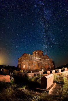 Milky Way and Armenian cemetary (one of Suren Manvelyan's photos in his Night Armenian Spirit series)