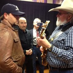 What an honor... Got to hang out and jam with one of my idols tonite. Mr. Charlie Daniels
