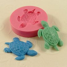 Sea Turtle Cabochon Flexible Silicone Mold/Mould (36mm) for Crafts, Jewelry, Scrapbooking, (wax, resin,  pmc, utee,  polymer clay) (219). $5.00, via Etsy.