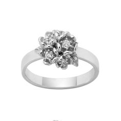 KAREN WALKER POSIE FLOWER BALL RING. KWD8. 9ct White Gold. available in 9ct Yellow Gold.  Round Brilliant Diamonds G-H / SI2 0.24 tdw. Purchase in store or online. 98 Richmond Rd, Grey Lynn. www.dor.co.nz. Free Shipping. #Freeshipping #karenwalker #kw #karenwalkerjewellery #jewlry #jewellery #diamond #diamonds #yellowgold #whitegold #posie #flower #posieflower #posies #flowers