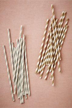 Metallic straws