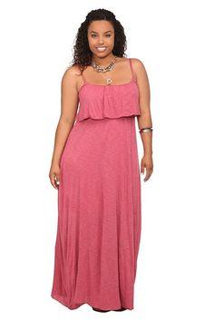 love this maxi Blush Slub Knit Ruffle Maxi Dress This soft rayon slub knit  dress goes cbb1b8296