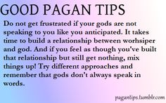 Good and Bad Pagan Tips ~ can be applied to Witches as well.