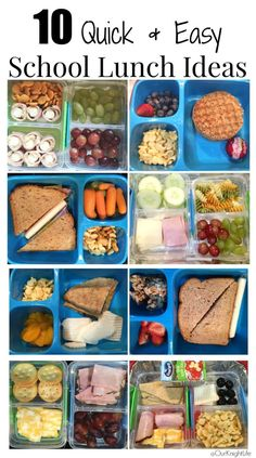 10 quick and easy school lunch ideas that your kids will love to eat! #backtoschool #schoollunchideas