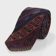Paul Smith Men's Ties - Rug Tapestry Narrow Silk-Blend Tie