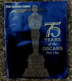 The Sunday Times 75 years of The Oscars Part One Magazine Historical Memorabilia The Lost Weekend, It Happened One Night, Horrible Histories, The Sunday Times, My Fair Lady, The Infernal Devices, Oscars, Magazine, Shit Happens