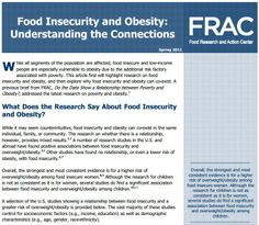 Food Insecurity and Obesity: Understanding the Connections