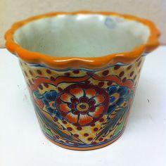 Talavera planter Approx $25 - $35 #planter #oldworldpotteryofwichitafalls #art #mexico #pottery #terracotta #pottery #terracotta #talavera
