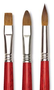 http://www.dickblick.com/products/blick-master-kolinsky-sable-long-handle-brushes/                I love these sable paint brushes. Especially the flat #6. I'll create a whole painting using only the one brush.